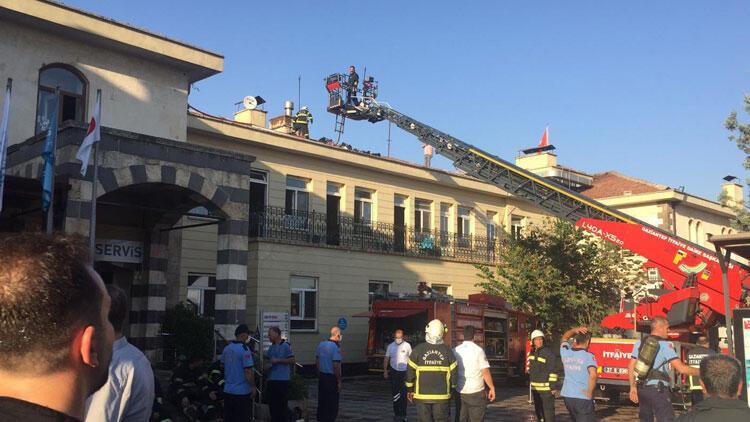 Son dakika... Gaziantepte özel hastanede yangın
