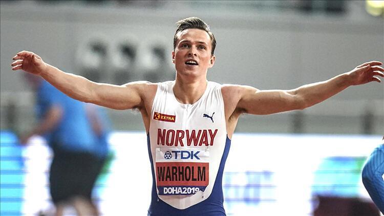 Norveçli Karsten Warholm, erkekler 400 metre rekor kırdı 29 yıl sonra...
