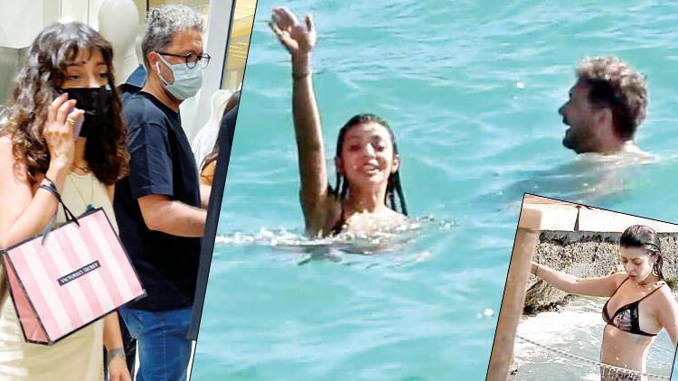 Sürpriz aşktan ilk fotoğraf... Selin Şekerci ile İbrahim Selim baş başa tatile çıktı