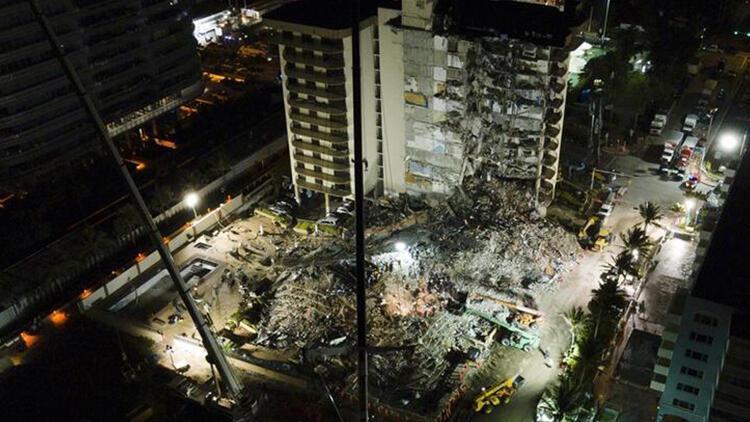 Miamide bir kısmı çöken 13 katlı binada ölenlerin sayısı 28e çıktı