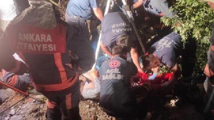 Kuyuya düşen 65 yaşındaki kadını itfaiye ekipleri kurtardı