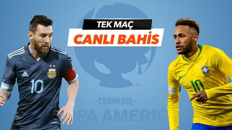 Copa America finalinde Arjantinli Messi'nin tarafında mısın, yoksa Brezilyalı Neymar'ın mı? Öne çıkan iddaa tercihi...
