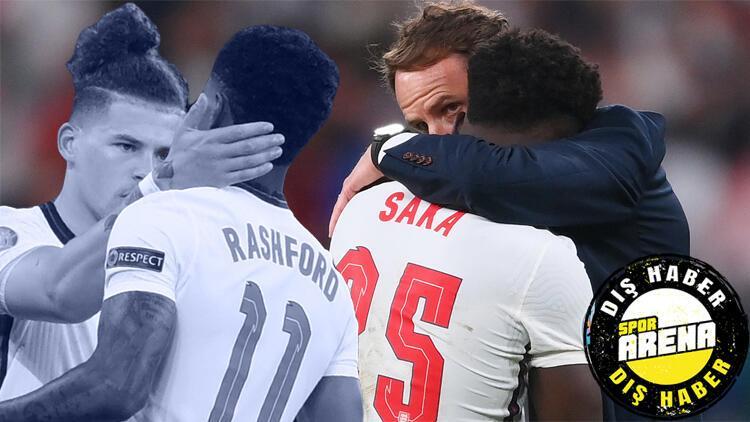 Son Dakika: İngiltere'yi sarsan ırkçılık skandalı! Saka, Rashford ve Sancho penaltıları kaçırınca...
