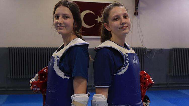 Kırklarelili ikiz tekvandocuların hedefi Nur Tatar gibi olimpiyatlarda mücadele etmek!