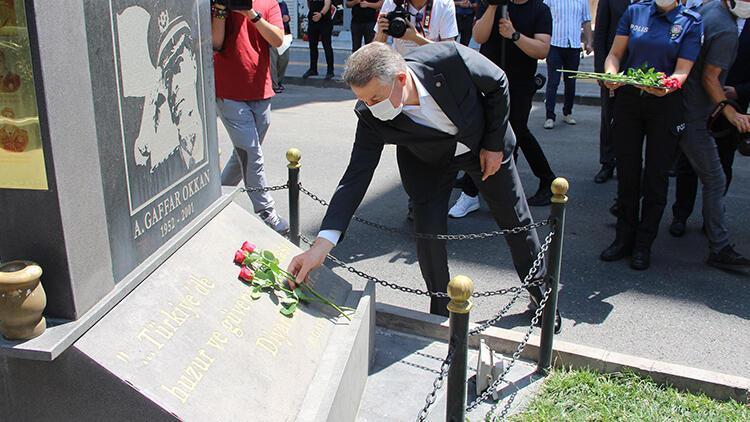 Diyarbakır Emniyet Müdürü Aşkın'dan Gaffar Okkan anıtına ziyaret