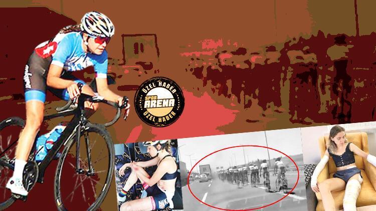 Son Dakika: Bisiklet yarışında ölüme davetiye! Milli sporcu Kübra Bektaş'ın korku dolu anları...