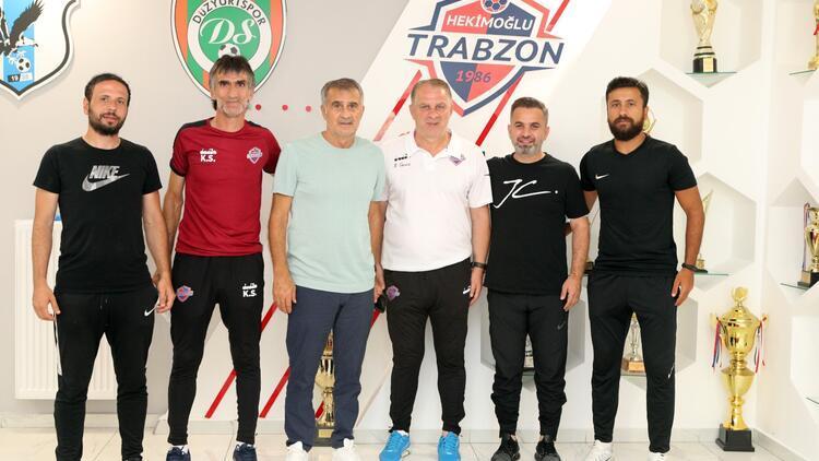 Şenol Güneş, Hekimoğlu Trabzon FK'yı ve kardeşi Bahaddin Güneş'i ziyaret etti