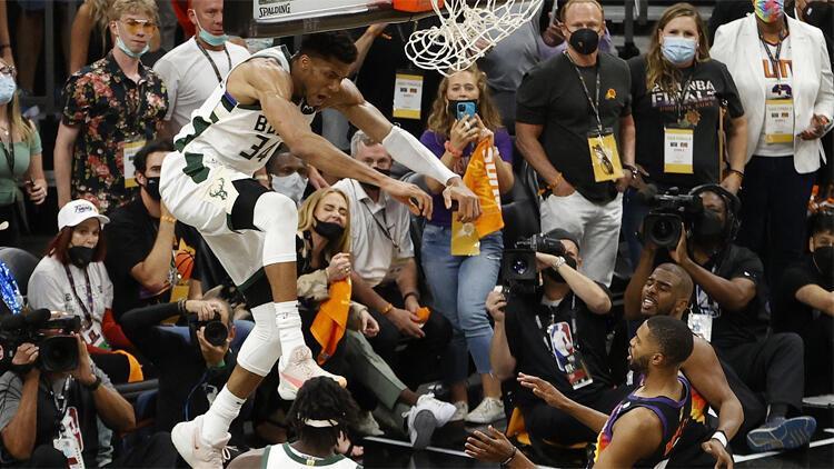 Milwaukee Bucks şampiyonluğa 1 maç uzaklıkta! Phoenix Suns'ı deplasmanda yendiler