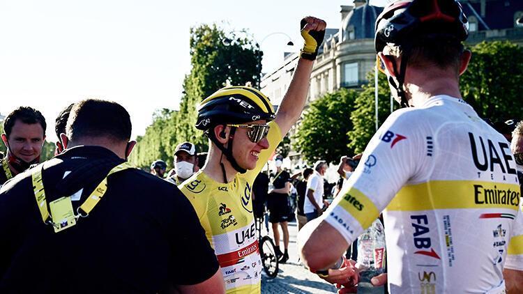 Tadej Pogacar, Fransa Bisiklet Turu'nda üst üste ikinci kez şampiyon