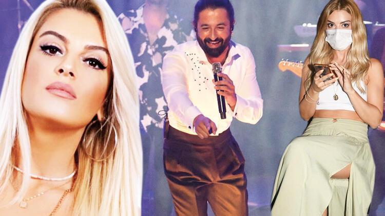 Koray Avcı, Harbiye'de sahneye çıktı, sevgilisi Ebru Keskin en önden izledi