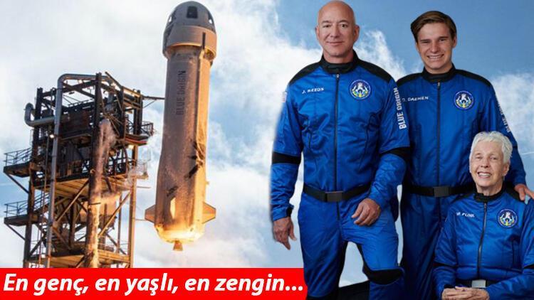 Milyarder iş insanlarının uzay keyfi... Blue Origin tarihi yolculuğuna bugün başlıyor