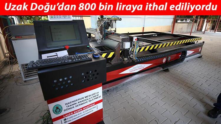 Meslek lisesi öğrencileri okullarında CNC fiber lazer kesim makinesi üretti