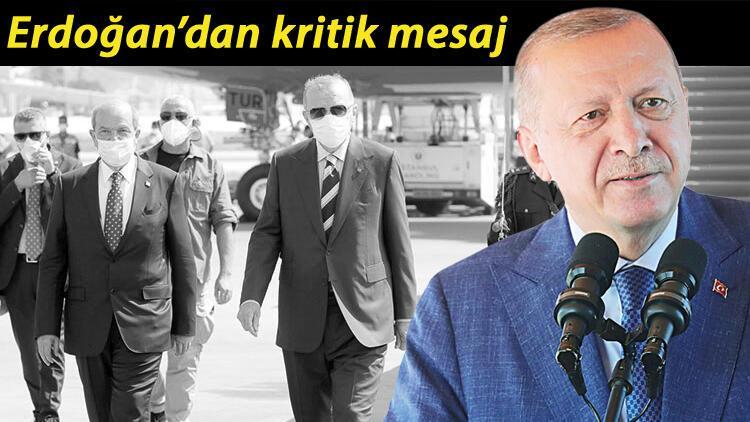 Erdoğan'dan KKTC dönüşü mesajlar... 'Bize sığınanlara eve dön diyemeyiz'