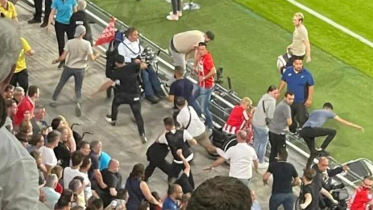 PSV-Galatasaray maçında ortalık karıştı! Temsilcimize çirkin saldırı