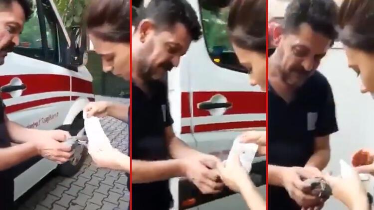 Bakan Koca paylaştı! Sağlık çalışanlarından yaralı kuşa müdahale