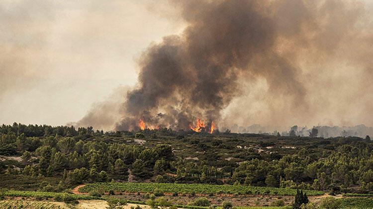 Fransanın güneyinde çıkan orman yangınında 850 hektarlık alan zarar gördü