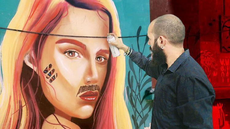 'Graffitiye bıyık' kızdırdı