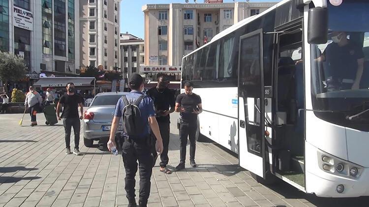 İstanbulda yabancı uyruklulara yönelik denetim