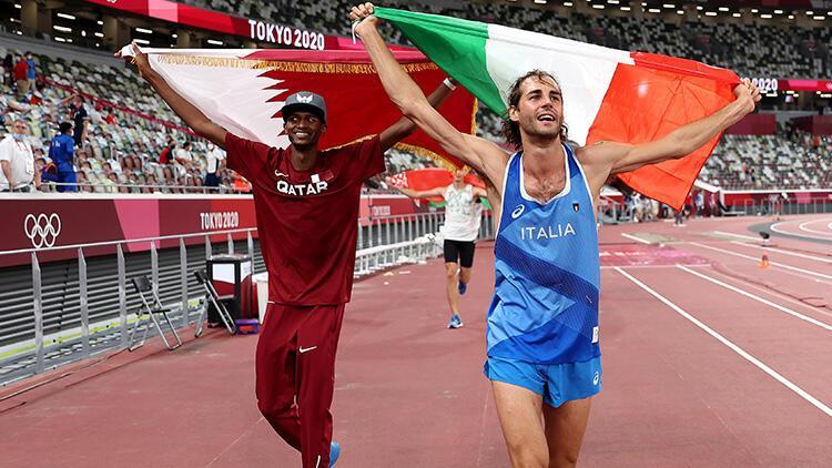 Tokyo 2020 erkekler yüksek atlamada çifte şampiyon Madalyayı paylaştılar