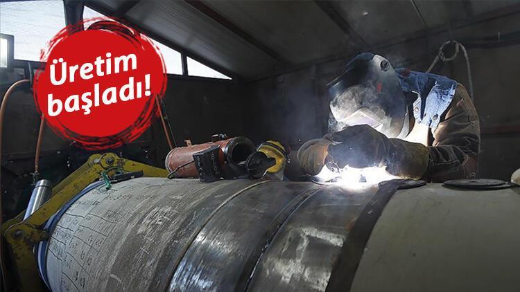 Karadenizde kullanılacak doğal gaz borularının üretimine başlandı
