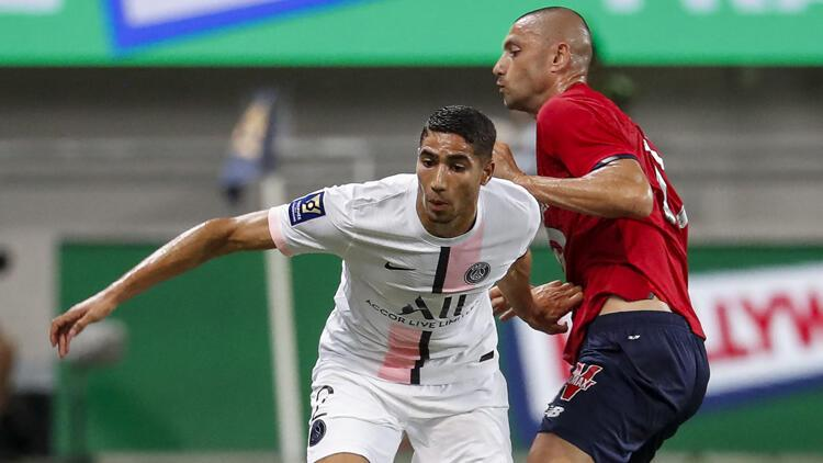 Lille - PSG maçında Filistine destek olan Achraf Hakimiye ıslıklı protesto