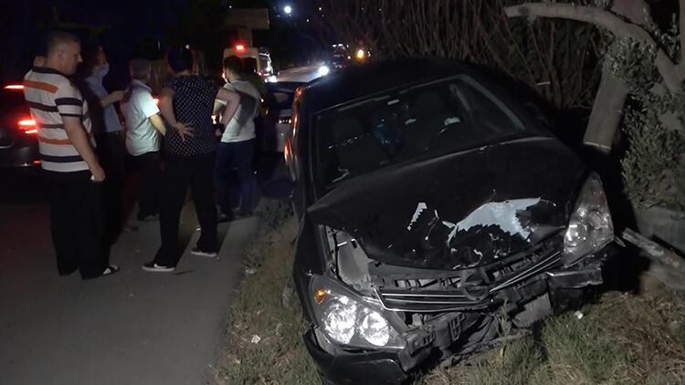 Arnavutköydeki kazada anne ve 2 oğlu yaralandı