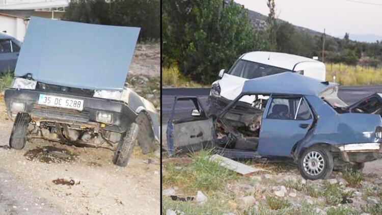 Kazada otomobil ikiye bölündü: İki kişi hayatını kaybetti