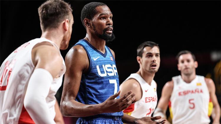 Son Dakika: İspanya ilk yarıda zorladı, ABD Kevin Durantle kazandı