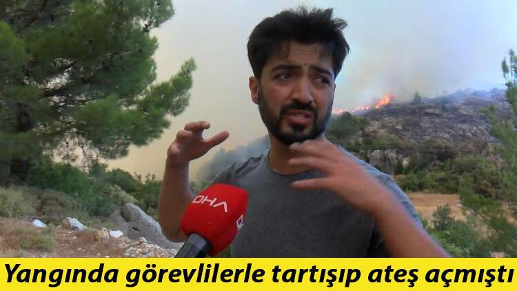 Manavgattaki yangında orman söndürme memurları ile tartışıp havaya ateş açan Yusuf Güney gözaltına alınmıştı Serbest bırakıldı