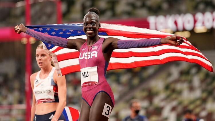 Tokyo 2020 kadınlar 800 metrede altın madalya Athing Munun