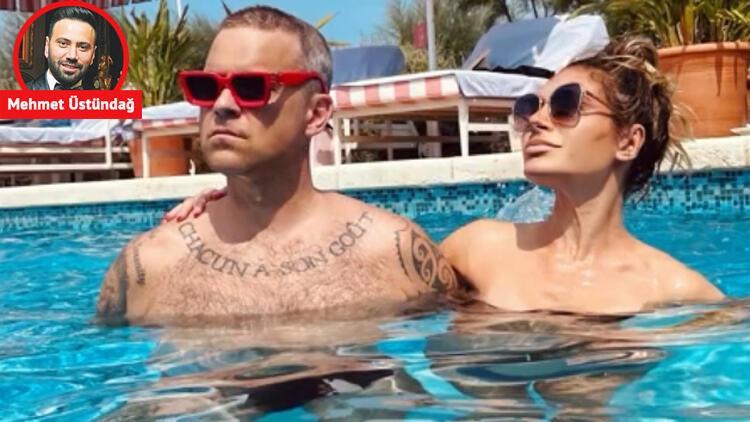 Robbie Williams, Türk eşi Ayda Field ile Bodrum'da