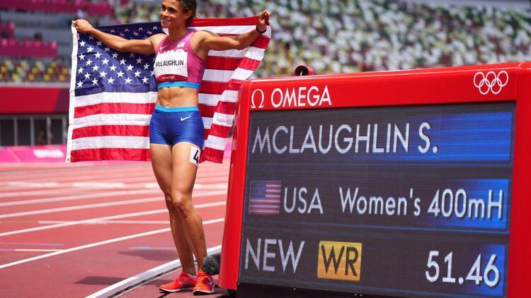 Sydney McLaughlinden Tokyo 2020de dünya rekoru