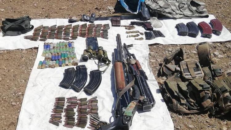 Vanda terör örgütü PKKya ait silah ele geçirildi
