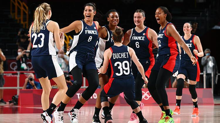 Tokyo 2020 haberi: Kadın basketbolda son yarı finalist Fransa