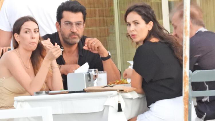 Kenan İmirzalıoğlu ve Sinem Kobal, Barış Falay ile eşi Esra Ronabarla buluştu