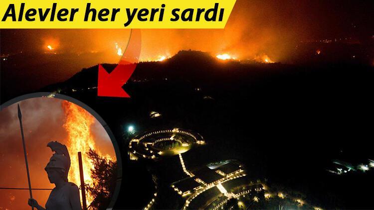 Yunanistanda yangınlar sürüyor: Alevler antik Olimpia kentini sardı Ordu müdahale edecek