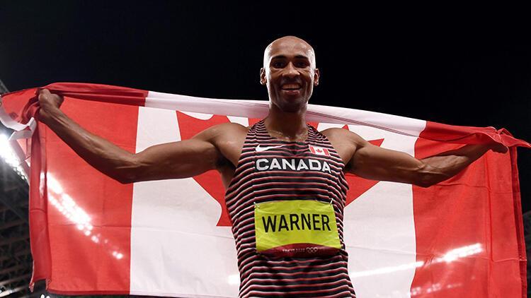 Erkekler dekatlonda Kanadalı Damian Warner, olimpiyat rekoru kırarak şampiyon oldu