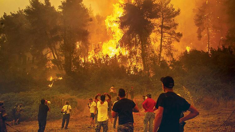 Yunanistan 8 gündür yanıyor... 20 ülke söndüremedi