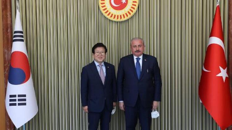 TBMM Başkanı Şentop, Güney Koreli mevkidaşıyla görüştü