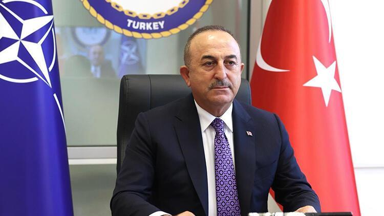Bakan Çavuşoğlu NATO Dışişleri Bakanları VTC Toplantısına katıldı