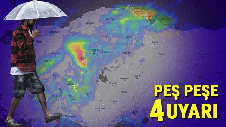 Son dakika... Meteorolojiden peş peşe 4 uyarı Çok sayıda il için sarı alarm