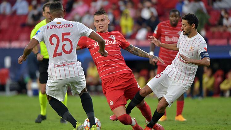 Dört penaltı kullanılan maçta Sevilla ile Salzburg beraberliğe razı oldu