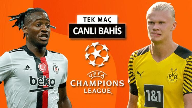 Dolmabahçede Şampiyonlar Ligi akşamı 19:45teki maçta Beşiktaşın Dortmund karşısında iddaa oranı...