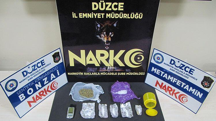 Düzcede uyuşturucu operasyonlarında yakalanan 3 zanlıdan biri tutuklandı