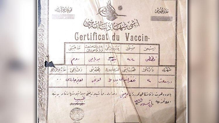 115 yıllık aşı kartı