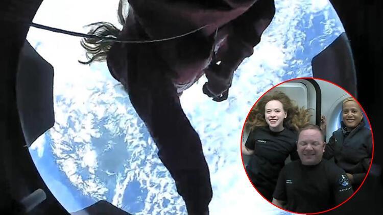 Uzay turistlerinden ilk fotoğraflar geldi