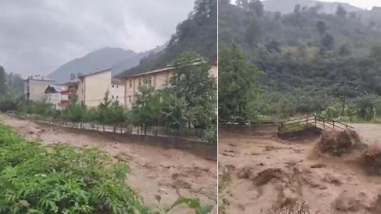 Giresun'da sağanak yağış nedeniyle 1 köyde eğitime ara verildi