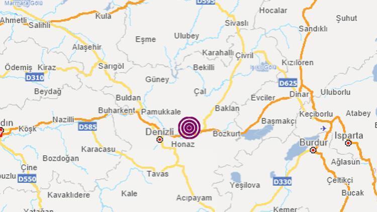 Son dakika... Denizlide 3.7 büyüklüğünde deprem