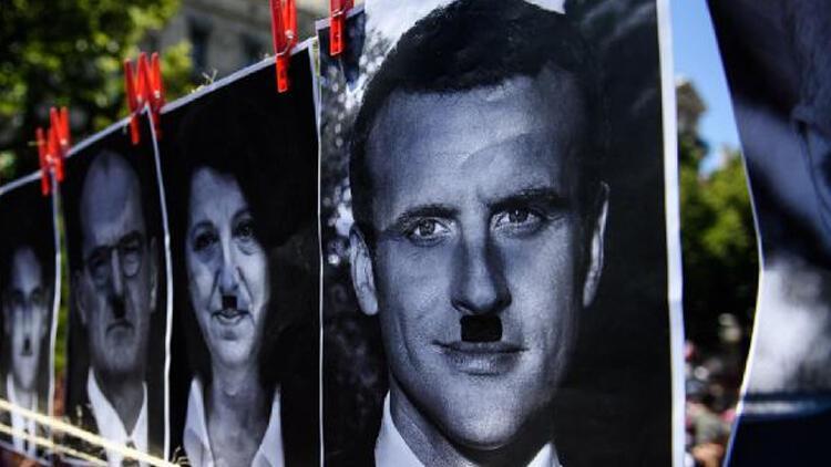 Macron afişine 10 bin avro ceza