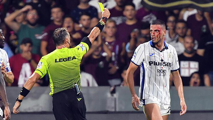 Salernitana - Atalanta maçında Merih Demiral kanlar içinde kaldı